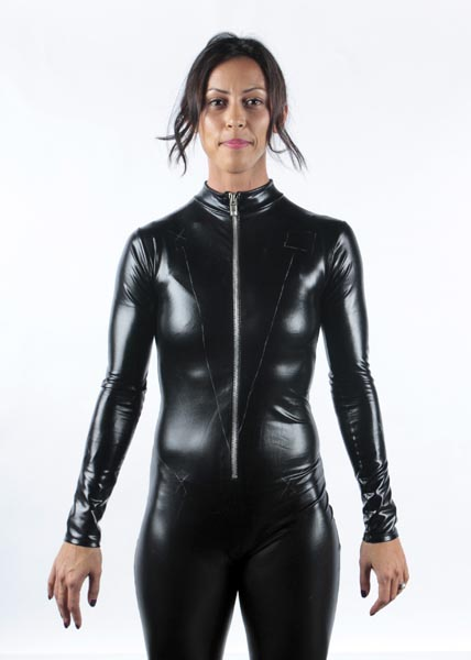 Front of Tron Costume Before EL Tape