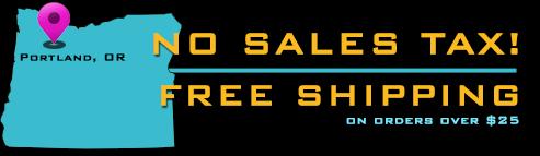 Free Shipping, No Sales Tax