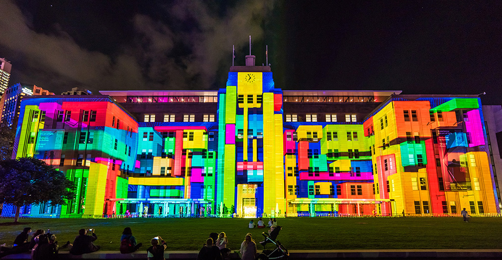 vivid sydney 2015 - projector mapping