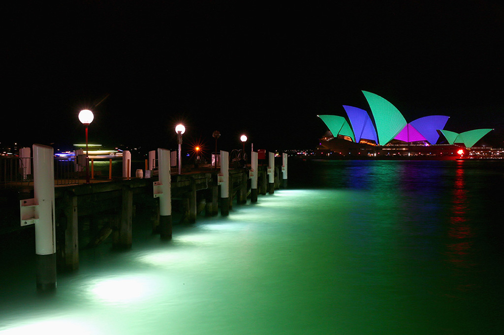 projector mapping vivid sydney