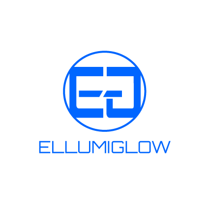 Ellumiglow Bawdy Blue EL Wire turned on