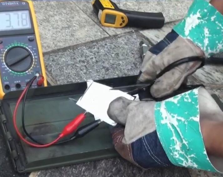 cutting a glopower battery