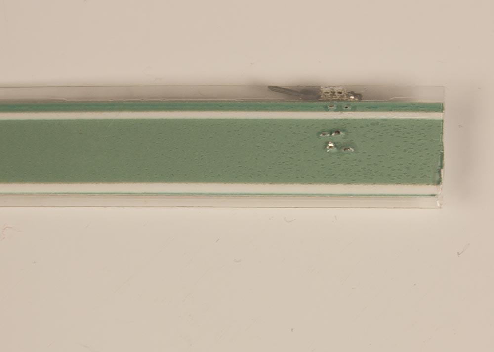 back side of el tape and crimp connectors