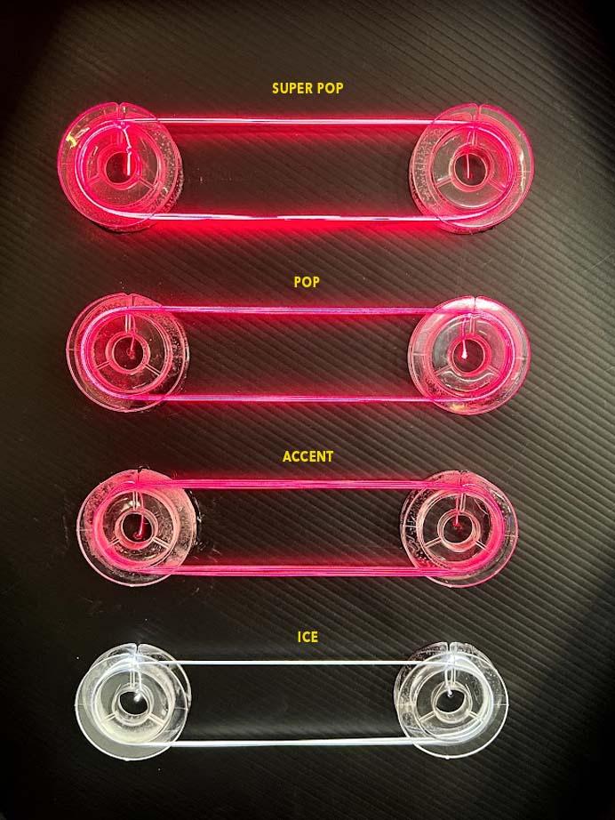 laser wire super pop pop and accent comparison
