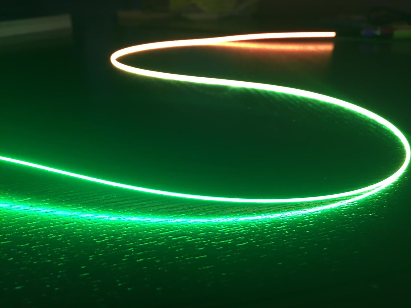Laser Wire Gradient Green, Orange & Red