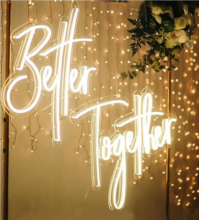 custom wedding neon