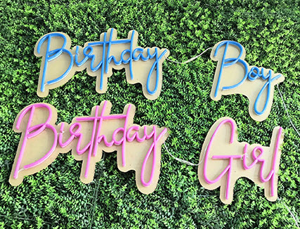 custom birthday party neon sign
