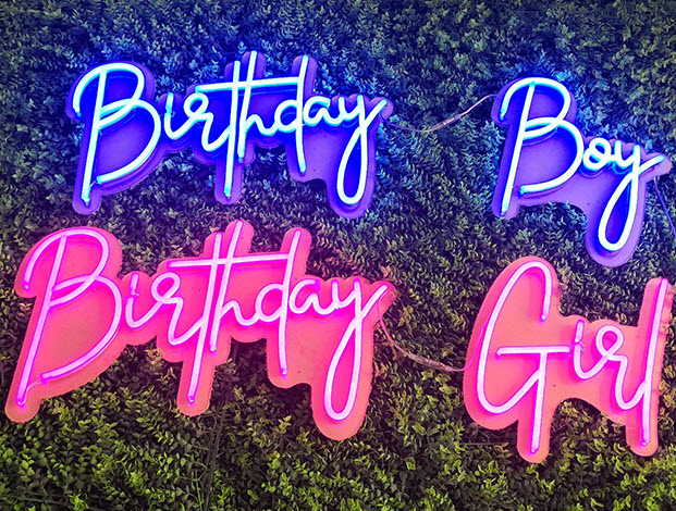 custom birthday neon sign