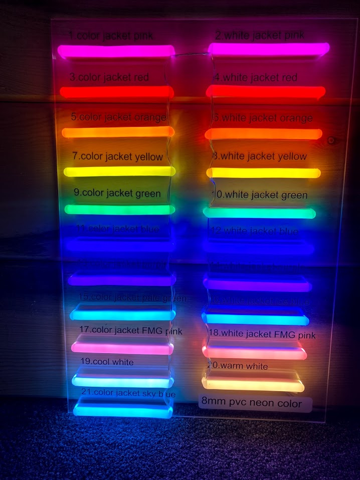 led neon sign colors