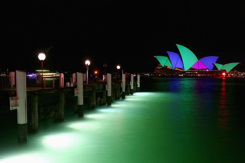 projector mapping vivid sydney