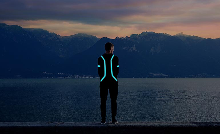 Vynel lighting for wearables