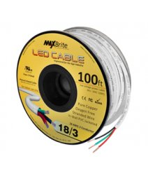 18AWG Low Voltage 3 Conductor LED Cable - Jacketed In-Wall UL/cUL Class 2