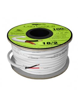 18AWG Low Voltage 2 Conductor LED Cable - Jacketed In-Wall UL/cUL Class 2