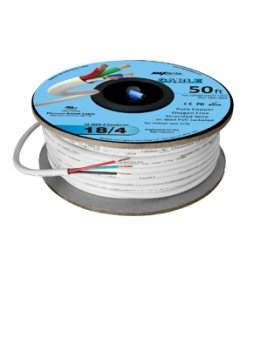 18AWG Low Voltage 4 Conductor LED Cable - Jacketed In-Wall UL/cUL Class 2