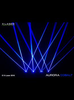 X-Laser Aurora Quad- Cobalt Blue 350mW