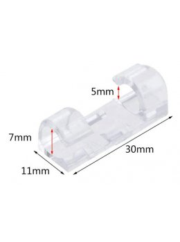 Laser Wire® Faux Neon Clear Mounting Clips - 10-Pack