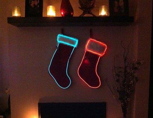 DIY Christmas Stocking EL Wire Kit