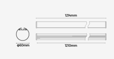 hanging tube light profile